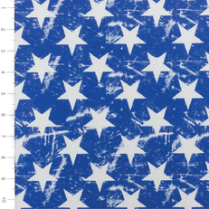 Acid Washed Star Royal Nylon Lycra Swimsuit Fabric