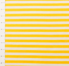 "3/8"" Yellow and White Yarn Dyed Stripes Light Weight Knit Fabric"