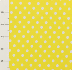 Yellow Polka Dot Medium Weight Swimsuit Fabric