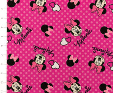 Minnie Mouse Knit Fabric by Springs Creative
