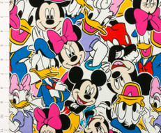 Mickey and Friends Knit Fabric by Springs Creative