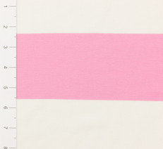 Pink and White Yard Dyed Striped Knit Fabric