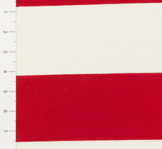 Red and White Yard Dyed Striped Knit Fabric