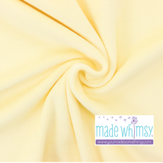 Banana Yellow Velour by Made Whimsy