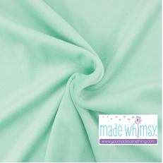 Fresh Mint Velour by Made Whimsy