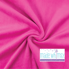 Fuchsia Pink Velour by Made Whimsy