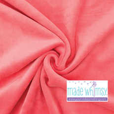 Coral Pink Velour by Made Whimsy