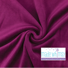 Raspberry Pink Velour by Made Whimsy
