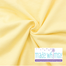 French Terry Banana Yellow by Made Whimsy