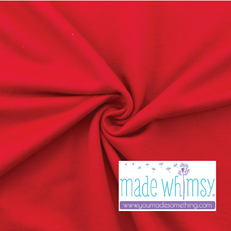 French Terry Red by Made Whimsy