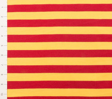 "1"" Yellow and Red Yarn Dyed Stripes"