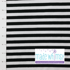 "3/8"" Black/White Yarn Dyed Striped Knit"