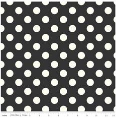 Medium White Dot on Black Canvas by Riley Blake
