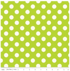 Medium White Dot on Lime Duck Canvas by Riley Blake