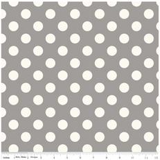 Medium Off White Dot on Gray by Riley Blake
