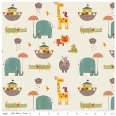 Giraffe Crossing 2 Main Cream Knit by Riley Blake
