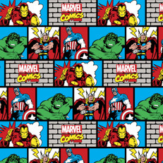 Marvel Comic Wall Knit by Springs Creative
