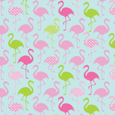 Flamingo Party Jersey Knit by Springs Creative