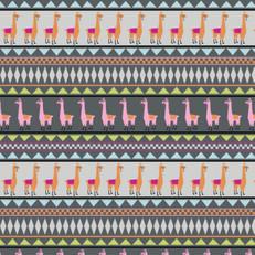 Llama Stripe Jersey Knit by Springs Creative
