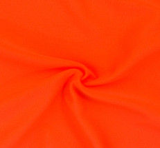 Neon Orange SPF 30 Solid Nylon Spandex Swimsuit/Athletic Fabric