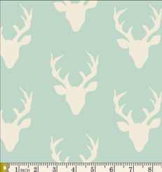 Buck Forest Knit Mint by Art Gallery