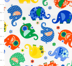 Elephant Romp Primary by Michael Miller