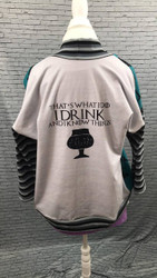 Drink and Know Things Word Panel Cotton/Lycra