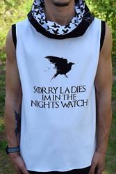 Sorry Ladies Nights Watch Panel Fan Art Cotton/Lycra