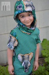 Pre-Order Emerald Elephant Print DBP Knit by Made Whimsy