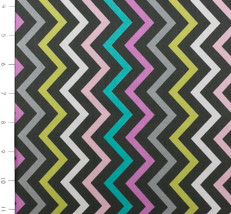 Mini Chic Chevron Pink by Michael Miller