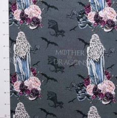 Pre-Order Mother of Dragons Gray French Terry by Made Whimsy