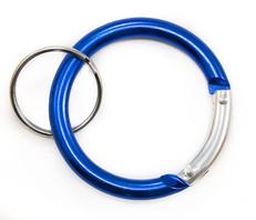 Circle Carabiner Clip Blue