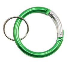 Circle Carabiner Clip Green
