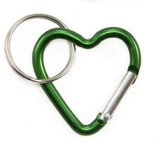 Heart Carabiner Clip Small Green
