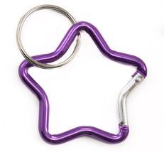 Star Carabiner Clip Small Purple