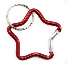 Star Carabiner Clip Small Red
