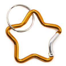 Star Carabiner Clip Orange