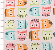 Owls Pink by Timeless Treasures