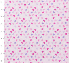 Mini Hearts Pink by Timeless Treasures