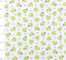 Tossed Mini Frogs White by Timeless Treasures