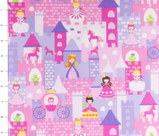 Princesses & Castles Pink by Timeless Treasures