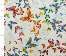 Metallic Allover Multi Butterflies by Timeless Treasures