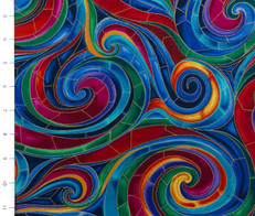 Metallic Swirl by Timeless Treasures