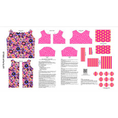 Let's Play Dolls Dress Pink Panel by Andover