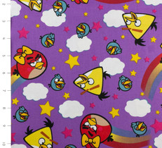 Angry Birds Girl Rainbows Purple