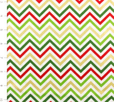 Remix Small Chevron Metallic Holiday by Robert Kaufman