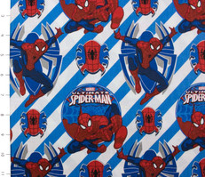 Ultimate Spiderman Diagonal Stripe Blue by Camelot