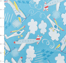 Take Flight Airplanes Light Blue by Camelot