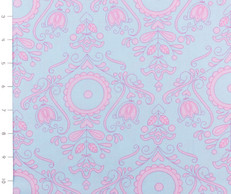 Candy Bloom Blue Pink Folk Floral by Ella Blue