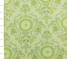 Candy Bloom Green Folk Floral by Ella Blue